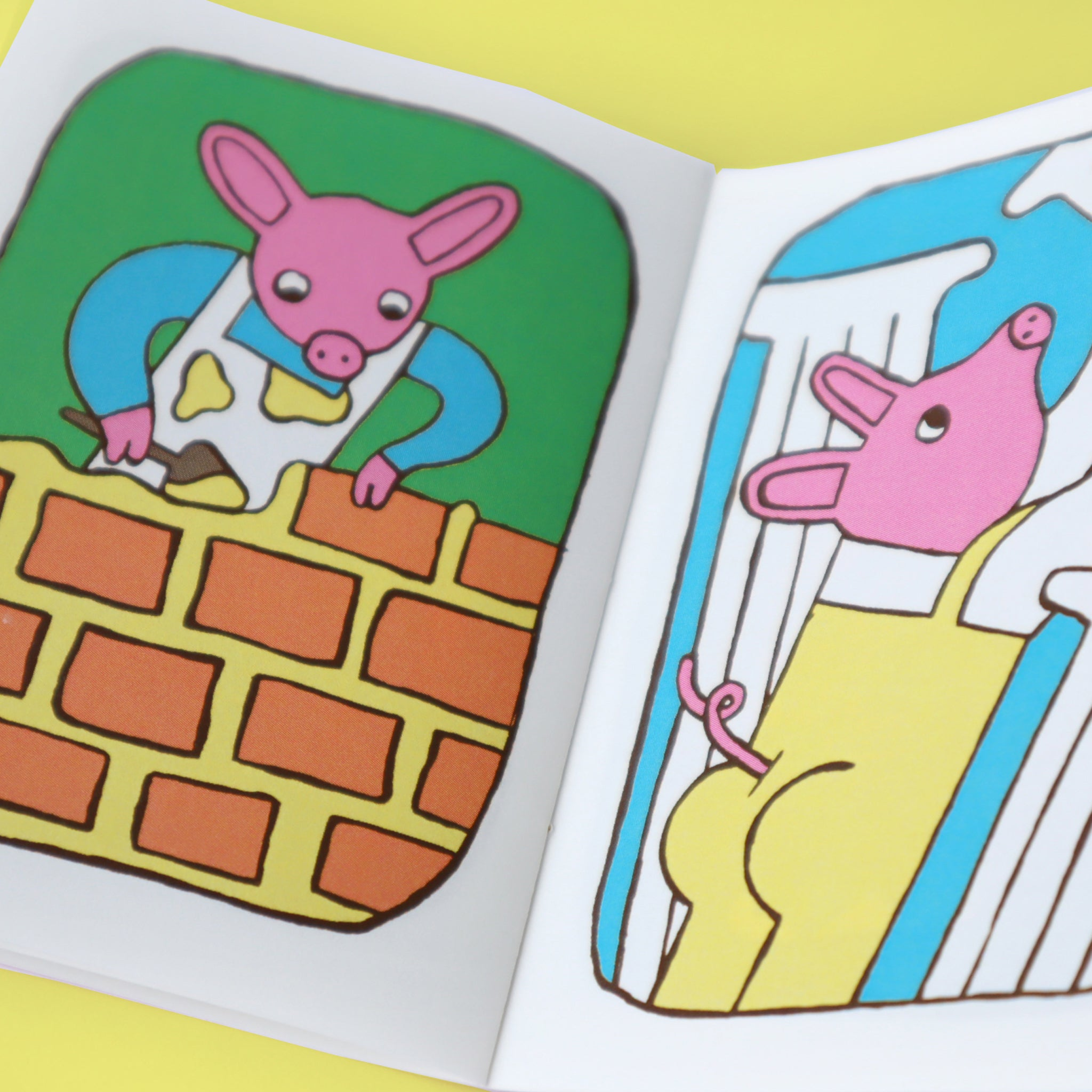 three little pigs fairytale book page