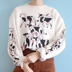 Cropped Off White COW Sweatshirt