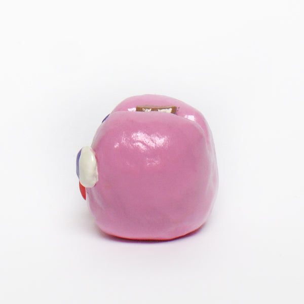 Happy Pink Ceramic Apple