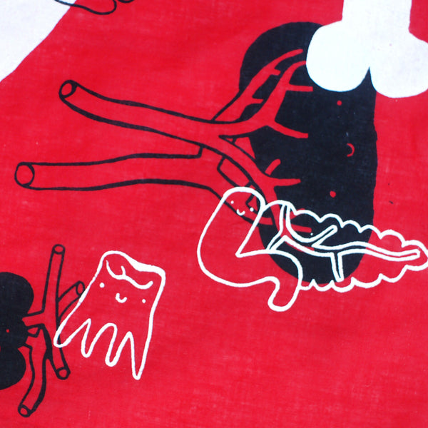 Handprinted Organ Bandana ALL OVER PRINT