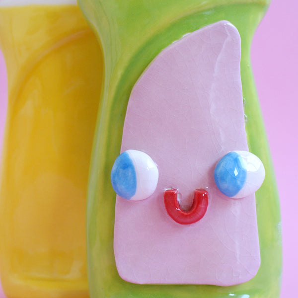 Happy Ceramic Dish Soap Bottle