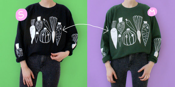 Veggie Sweatshirt in BLACK
