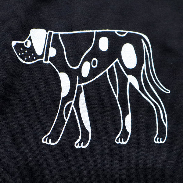 Hand Printed Black DOGS Sweatshirt