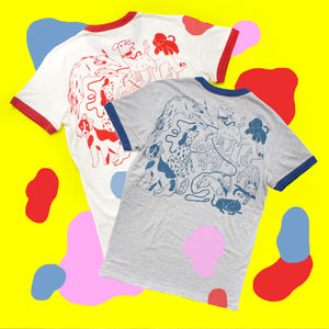 IMPERFECT Blue/Grey and Red/Cream Dog Park Tee