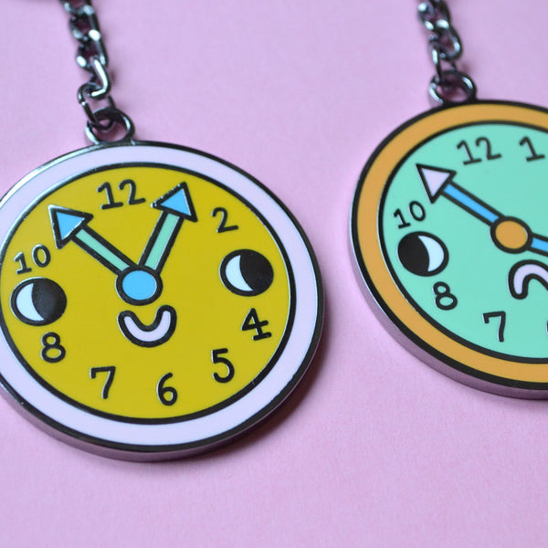 Double Sided Hard Enamel Pocket Watch Key Chain! With GIFT BOX!