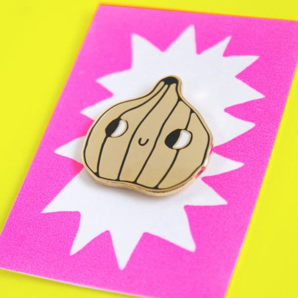 Hard Enamel Golden Garlic Pin (Sold Out Valley Cruise Press Collaboration Pin!)