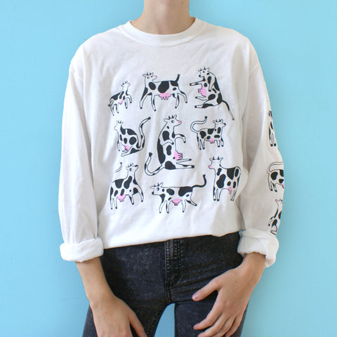 Imperfect COW Long Sleeve (with small STAIN)