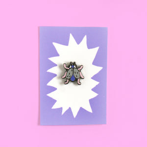 Hard Enamel Tiny Fruit Fly Bug Pin (Mini Gallery Box Collaboration)