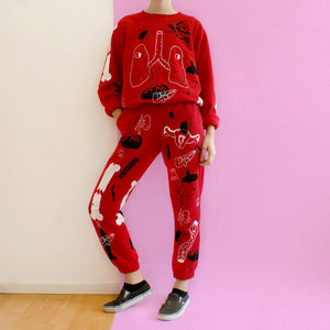 Handprinted ORGAN Sweatpants ALL OVER PRINT