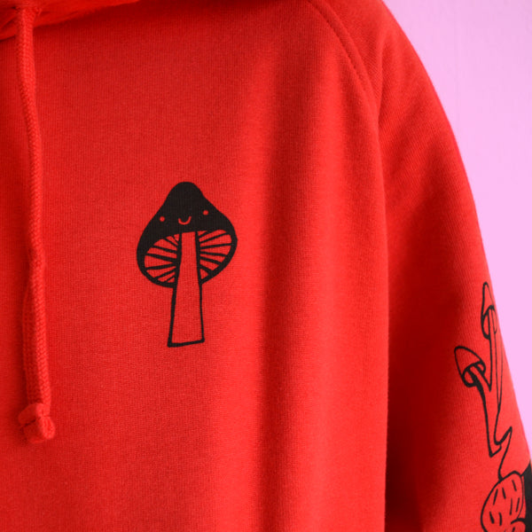 Hand Printed Little Red Riding Hoodie