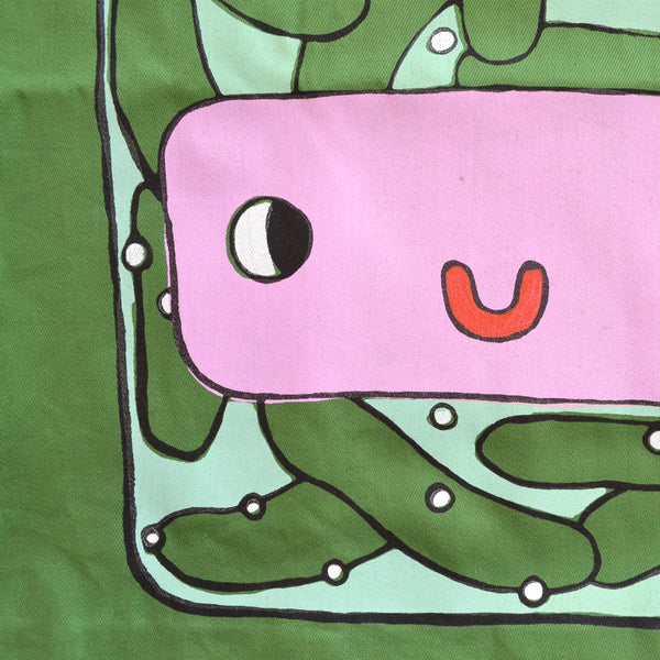 IMPERFECT Hand Printed PICKLE Tote Bag (100% Recycled Materials!)