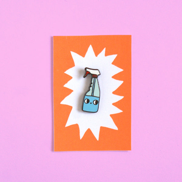 Hard Enamel Spray Bottle Pin (BIG or small!)