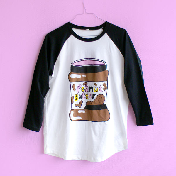 Peanut Butter and Jelly Raglan Baseball Tee