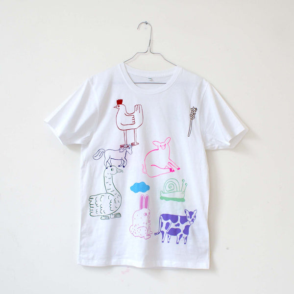 13 Color FARM ANIMAL Hand Screen Printed Tee ONLY 3 LEFT!