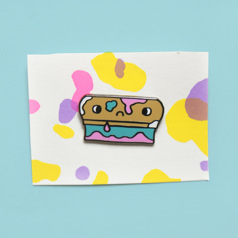 dirty squeegee screen printers hard enamel pin by eva stalinski illustrator