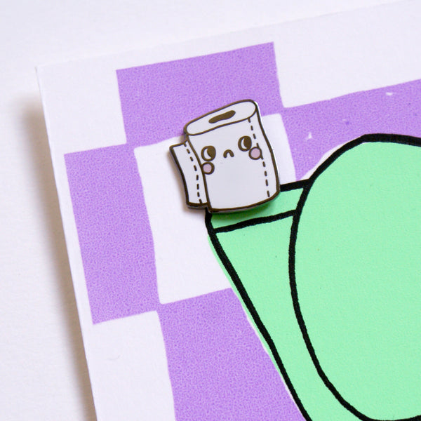 Hard Enamel Toilet Paper Roll Pin