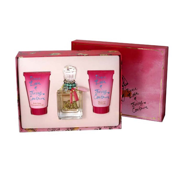 JCPL3 - Peace Love & Juicy Couture 3 Pc. Gift Set for Women