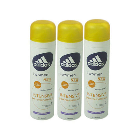 ADD43 - Adidas Intensive Anti-Perspirant for Women - 3 Pack - Spray - 5 oz / 150 ml