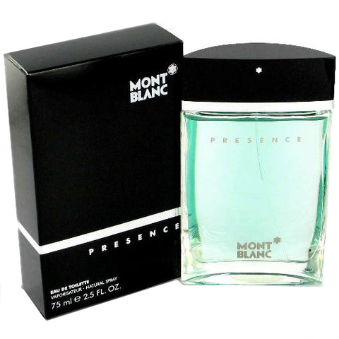 MO41M - Mont Blanc Presence Eau De Toilette for Men - 2.5 oz / 75 ml Spray