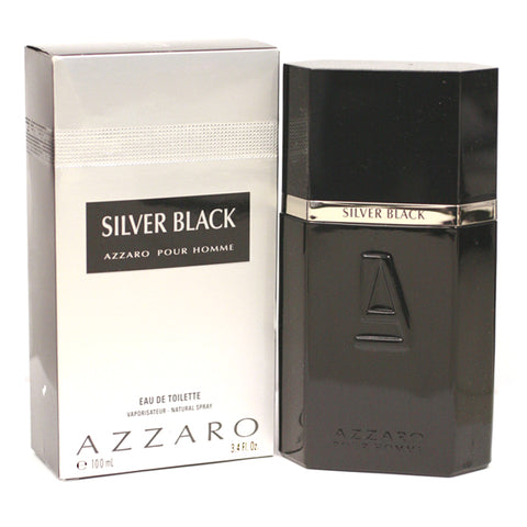 AZZ22M - Azzaro Silver Black Eau De Toilette for Men - 3.3 oz / 100 ml Spray