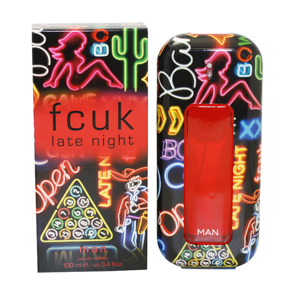 FLN34M - Fcuk Late Night Eau De Toilette for Men - Spray - 3.4 oz / 100 ml