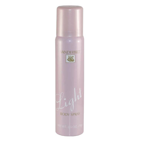 VAN40 - Vanderbilt Light Body Spray for Women - 2.5 oz / 75 ml