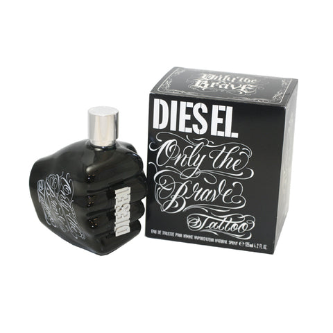 DT42M - Diesel Only The Brave Tattoo Eau De Toilette for Men - 4.2 oz / 125 ml Spray