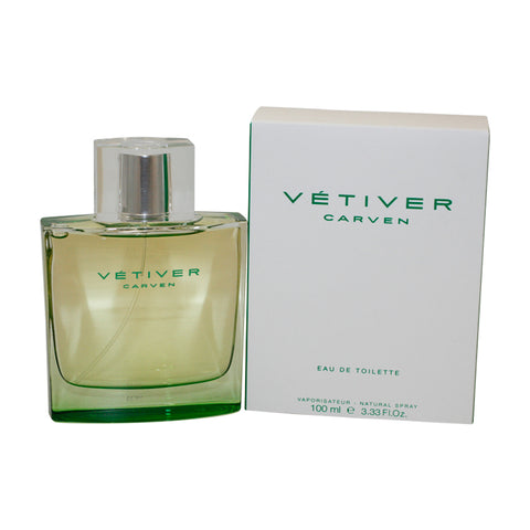 VE45M - Vetiver Carven Eau De Toilette for Men - Spray - 3.3 oz / 100 ml