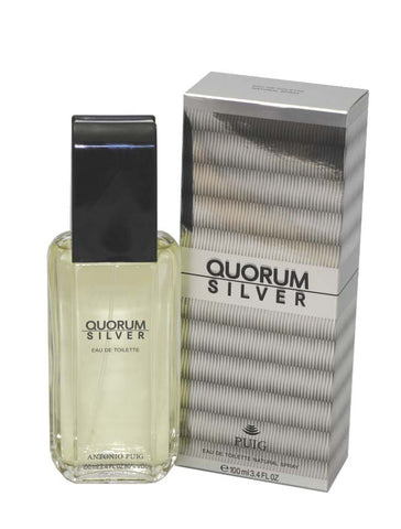 QUS32M - Quorum Silver Eau De Toilette for Men - 3.4 oz / 100 ml Spray