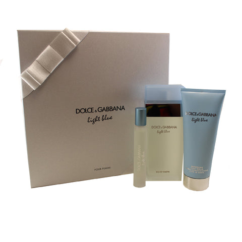 DO704 - Dolce & Gabbana Light Blue 3 Pc. Gift Set for Women