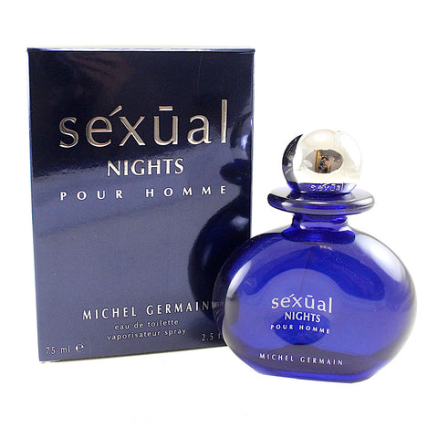 SEXN25M - Sexual Nights Eau De Toilette for Men - 2.5 oz / 75 ml Spray