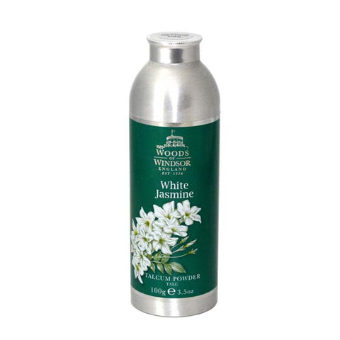 WHI17-P - White Jasmine Talcum Powder for Women - 3.5 oz / 100 g