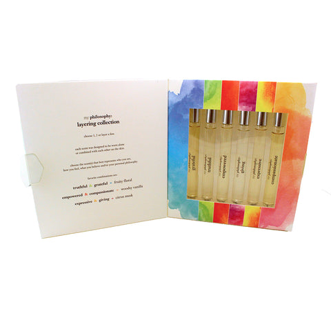 MPHL01 - My Philosophy Layering Collection 6 Pc. Gift Set for Women