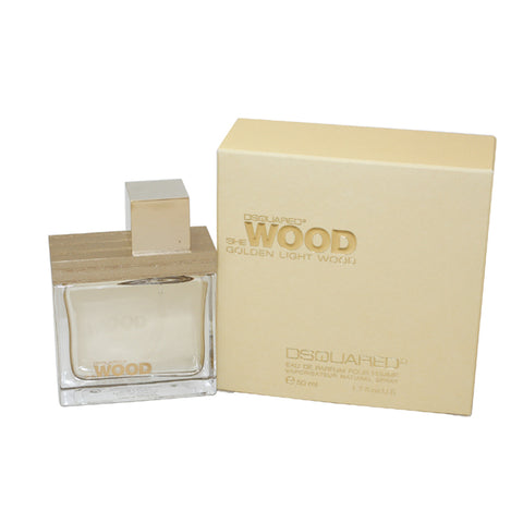 DQG17 - Dsquared2 She Wood Golden Light Wood Eau De Parfum for Women - Spray - 1.7 oz / 50 ml
