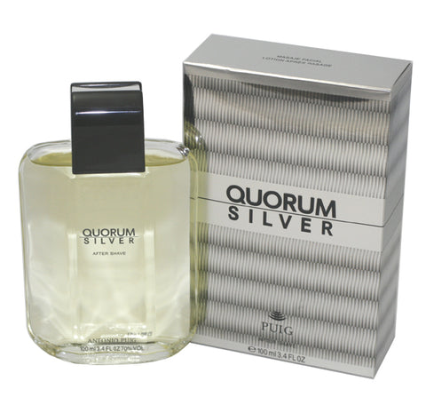 QUS30M - Quorum Silver Aftershave for Men - 3.4 oz / 100 ml