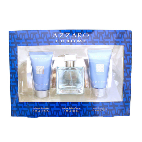 CH981M - Chrome 3 Pc. Gift Set for Men