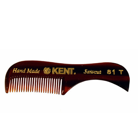 KPC26 - Kent The Hand Made Comb Beard & Moustache Comb for Men | Sawcut 81t