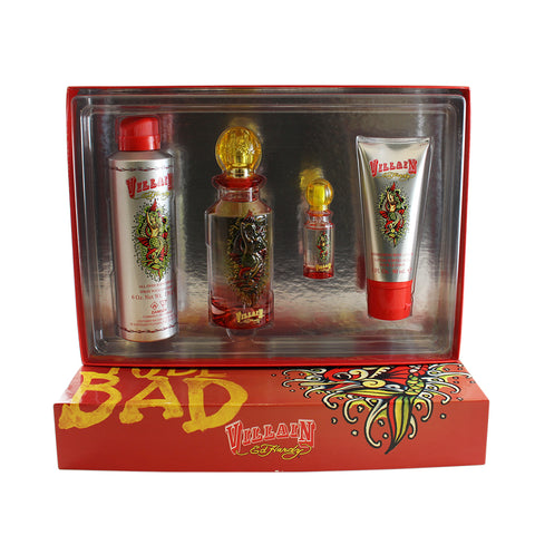 VI56 - Ed Hardy Villain 4 Pc. Gift Set for Women