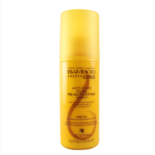 BAM38 - Bamboo Anti-frizz Curl Re-activating Spray for Women - 4.2 oz / 125 ml