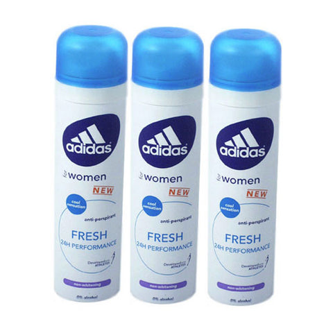 ADD33 - Adidas Fresh Anti-Perspirant for Women - 3 Pack - Spray - 5 oz / 150 ml