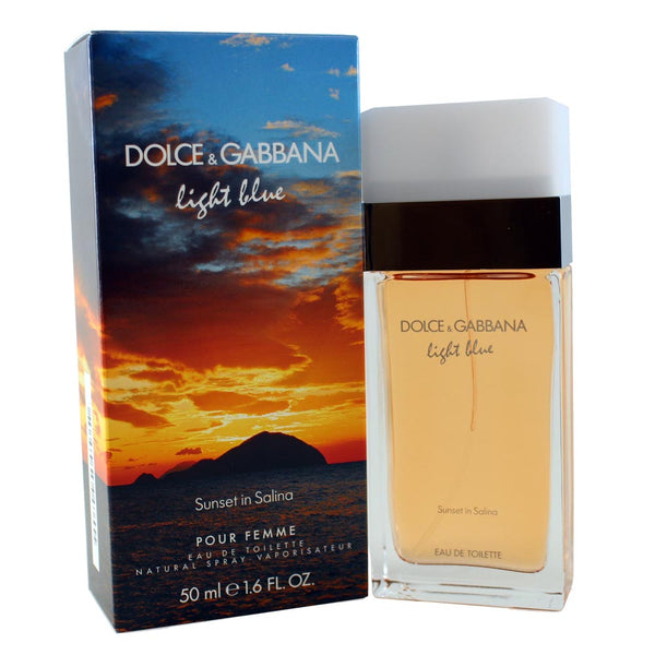 LBSS16 - Dolce & Gabbana Light Blue Sunset In Salina Eau De Toilette for Women - 1.6 oz / 50 ml Spray