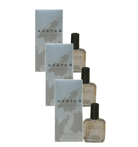 AV44M - Avatar Aftershave for Men - 3 Pack - 0.5 oz / 15 ml