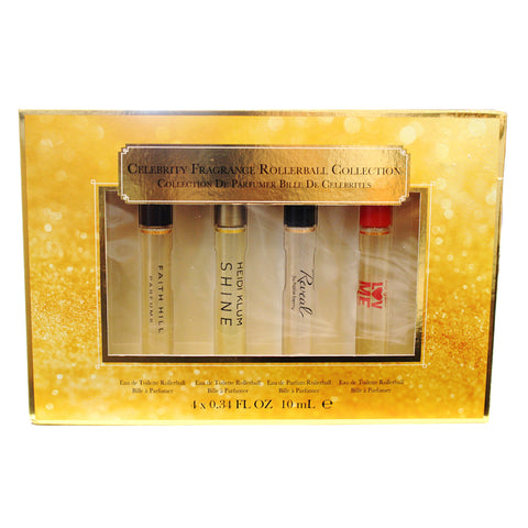 CFL31 - Celebrity Fragrances Rollerball Collection 4 Pc. Gift Set for Women