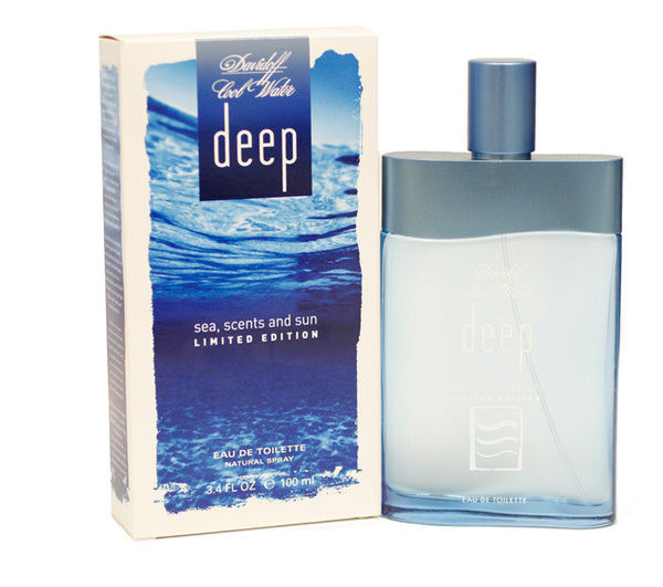 CWD12M - Cool Water Deep Sea Scents And Sun Eau De Toilette for Men - Spray - 3.3 oz / 100 ml - Limited Edition 2005