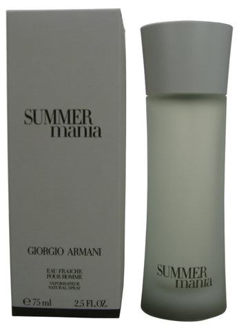 SUM27M - Summer Mania Pour Homme Eau Fraiche for Men - Spray - 2.5 oz / 75 ml