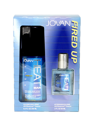 JOV12M - Jovan Heat Man Fired Up 2 Pc. Gift Set for Men