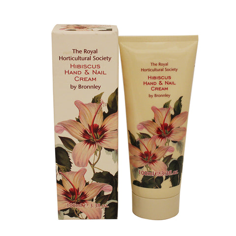 RHH12 - The Royal Horticultural Society Hibiscus Hand & Nail Cream for Women - 3.3 oz / 100 g