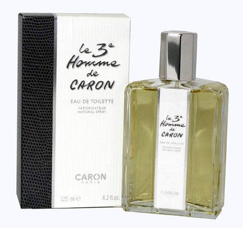 THE42M - The Third Man Le 3Eme Homme De Caron Eau De Toilette for Men - Spray - 4.2 oz / 125 ml