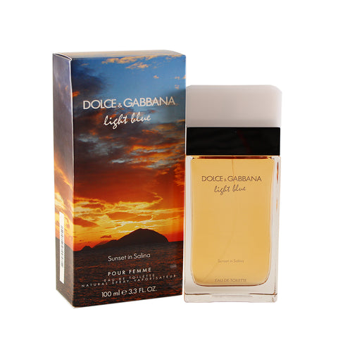 LBSS33 - Dolce & Gabbana Light Blue Sunset In Salina Eau De Toilette for Women - 3.3 oz / 100 ml Spray