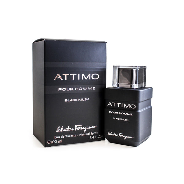 SFBM34M - Attimo Black Musk Eau De Toilette for Men - 3.4 oz / 100 ml Spray